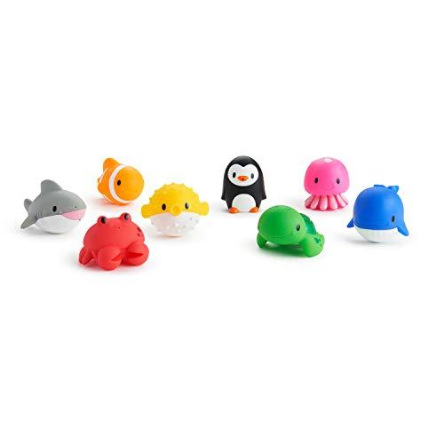 Munchkin - Ocean Spritztiere Badespielzeug, 8er-Pack