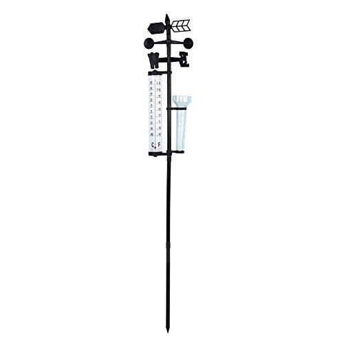Nikou Wetterstation mit 3-in-1-Wettersensor: Outdoor-Thermometer und Windmesser für Regenmesser
