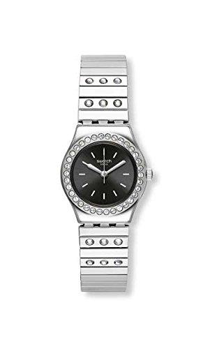 Swatch Tan Li Damen-Armbanduhr 25mm Armband Edelstahl Batterie Analog YSS318B (Bis Li)