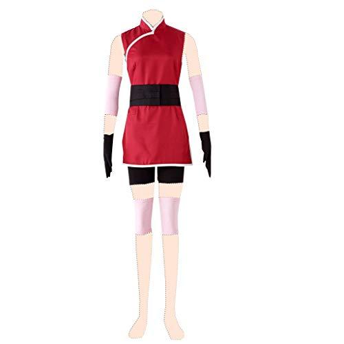 Dream2Reality Naruto Cosplay Kostuem Haruno Sakura Ver.3 Clothes (Weibliche Videospiel Kostüme)