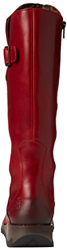 Fly London - Mol Leather, Stivali da Donna Rosso (Red 001)