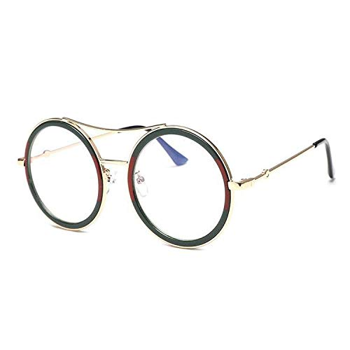 WERERT Sportbrille Sonnenbrillen Round Sunglasses Women Luxury Vintage Ladies Shades Retro Sun Glasses Transparent Eyeglasses Frame