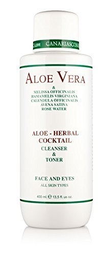 Canarias Cosmetics Aloe Herbal Cocktail, 1er Pack (1 x 400 g) - Aloe Vera Cleanser