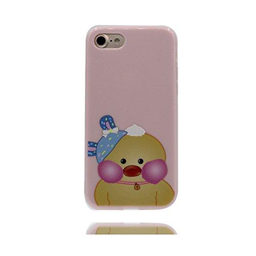 Custodia iPhone 7, Silicone trasparente iPhone 7 copertura Shell Protezione molle sottile del silicone TPU Cover Case Per iPhone 7 4.7 / rosa Flower fiore Color - 6