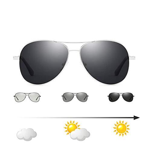 24 JOYAS Herren Sonnenbrille, 24-AC-8, Silber, 24-AC-8