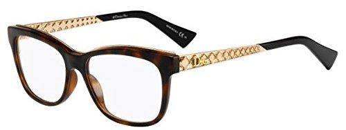 Dior Damen DIORAMAO1 EOG 53 Sonnenbrille, (Havana Gold)