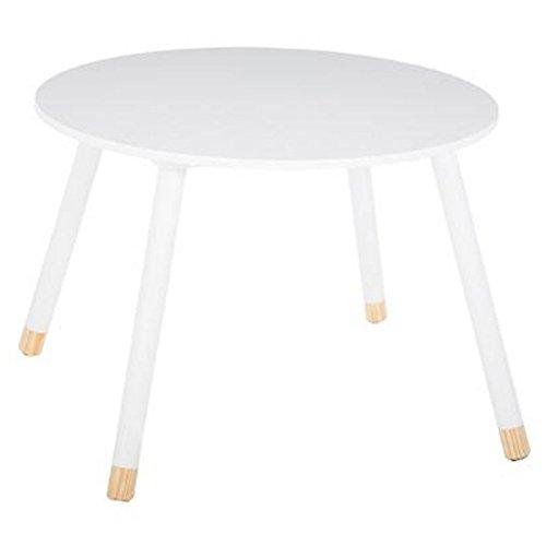 Atmosphera Table Ronde en Bois Enfants - Coloris Blanc