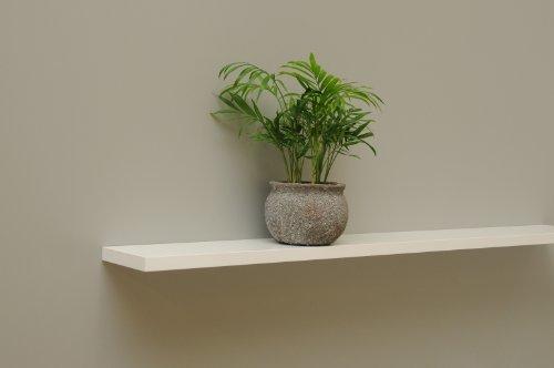 Wandbord Wandboard Design Livingboard Regal - in verschiedenen Dekoren - Tiefe:13cm Dicke:19mm (Weiß matt, 50cm)