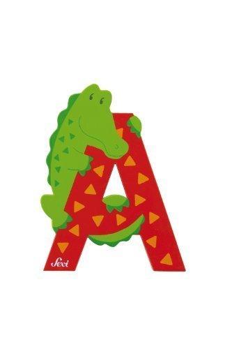 Trudi 81601 - Sevi Tierbuchstabe Alligator A rot