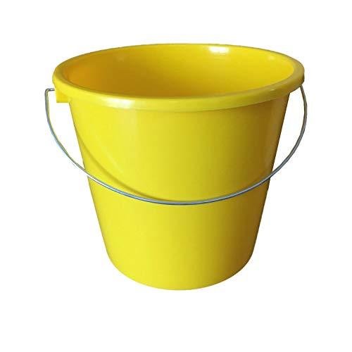 netproshop GEWA Eimer Klein mit Skala 5 Liter Lebensmittelecht, Farbe:Gelb