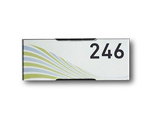 Modulex Messenger 61x157mm Türschild E63500500 | Aluminium und Spritzguss Polycarbonat in Anthrazit | nicht-reflektierende Frontscheibe | Büroschild | Wandschild