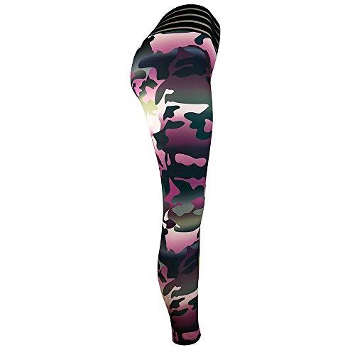 Damen Doppeltaschen Sport Leggings 3/4 Yogahose Sporthose Laufhose Training Tights mit Handytasche