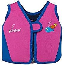 Swimbest - Baby/Kinder - Schwimmjacke / Schwimmweste aus Neopren, Pink/Marineblau , 18 Monate - 3 Jahre (Bis zu etwa 20 kg)