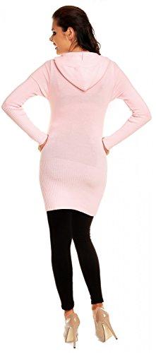 Zeta Ville Maternité - Le pull long de grossesse - pull à capuche - femme 908c Poudre Rose