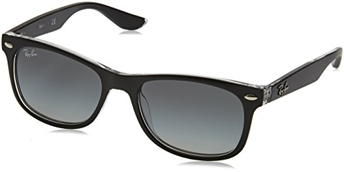 RAYBAN JUNIOR Unisex-Kinder Sonnenbrille 9052s Matte Black One Transparent/Gradientgrey 48