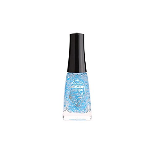 FASHION MAKE UP - Vernis à ongles Pumes - Bleu Argent - Fabrication Européenne