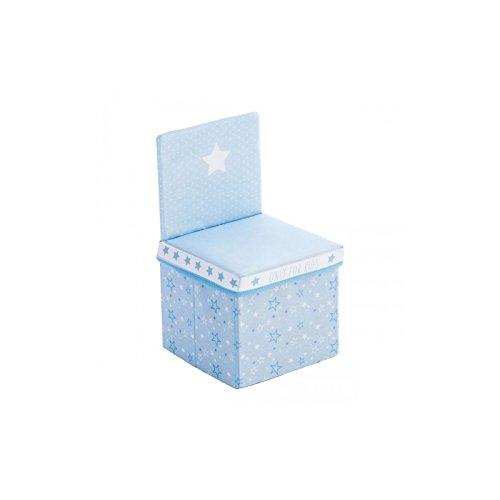 2 en 1 : Ensemble Chaise + Coffre de rangement - Coloris BLEU