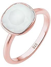 Elli  Damen-Ring Vergoldet Kristall grau Prinzess   Gr. 52 (16.6) - 0605850316_52