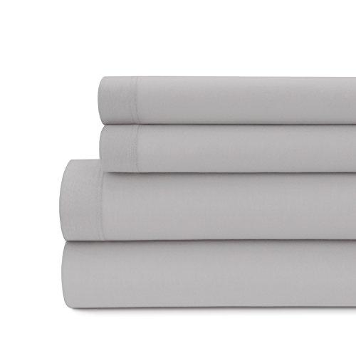 Briarwood Home 150gsm Solid Modal Jersey Deep Pocket Bed Sheet Set, 100% seidiges Modal Bettwäsche, baumwolle, aschgrau, Twin