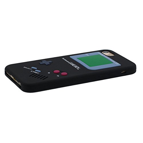 """Étui de Protection Apple iPhone 7 Plus 5.5"""", Souple Silicone Rubber iPhone 7 Plus Coque Case Dessin original Game Boy Playstation Apparence Serie Ultra Fine Style Poids léger Noir"""