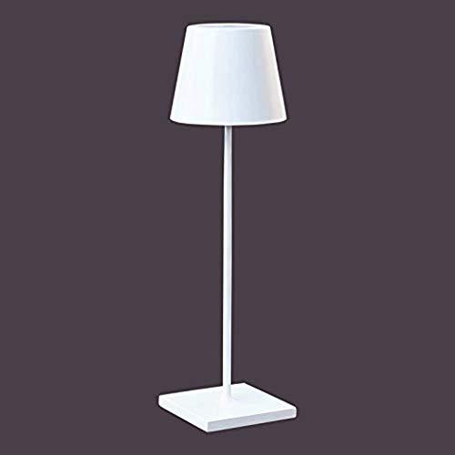 KX-QIN Lampada da tavolo a LED for batteria ricaricabile da esterno - Nero o bianco (bianco) Lampada da lettura for la protezione degli occhi for la ricerca di lavoro in camera da letto in ufficio,