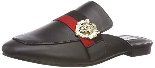 2e9b81c16c1 Steve Madden Damen Karisma Flat Slipper Schwarz (Black Leather 017) 39 EU