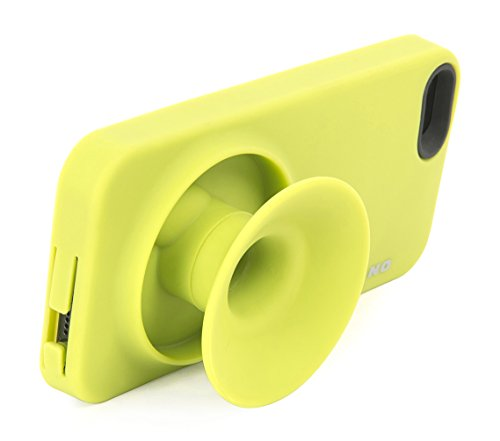 Tucano IPH5OB-V Oblò Hülle mit Verstärkerfunktion für Apple iPhone 5/5S grün Gelb