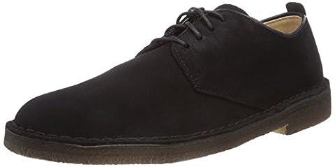 Clarks Originals Desert London, Herren Desert Boots, Schwarz (Black Sde), 40