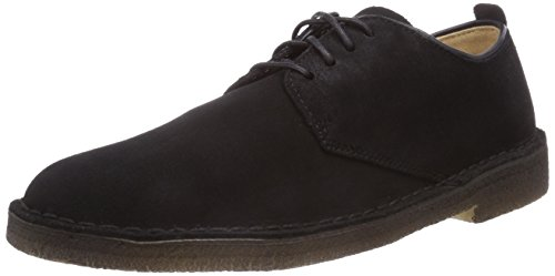 Clarks Originals - Desert London, Scarpe con lacci Derby da uomo, nero (black sde), 41.5