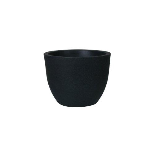 PP-Plastic 66-40-10 Gefäß Padua Durchmesser 40 x 30,7 cm, schwarz/granit