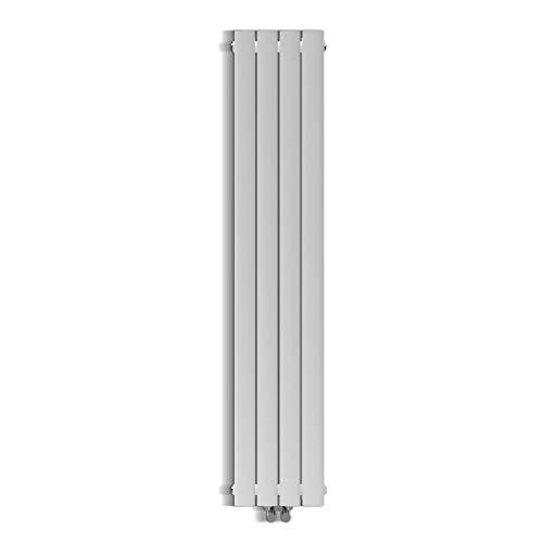 Design Flach Heizkörper 1600x308mm Weiß Paneelheizkörper Vertikal Mittelanschluss Doppellagig