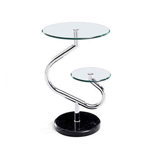 Tische einfache moderne Marmor-Kaffee temperierte Glas Sofa Seite Telefon-Tisch-64 * 40cm - Glas-modernen-sofa-tisch