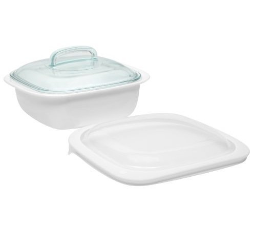 CorningWare SimplyLite / Corelle Bake, Serve, Store 1.5-Quart lightweight bakeware with Glass and Plastic Lids (3 piece Casserole Bake Set) by CorningWare SimplyLite/Corelle (Corelle Corningware)