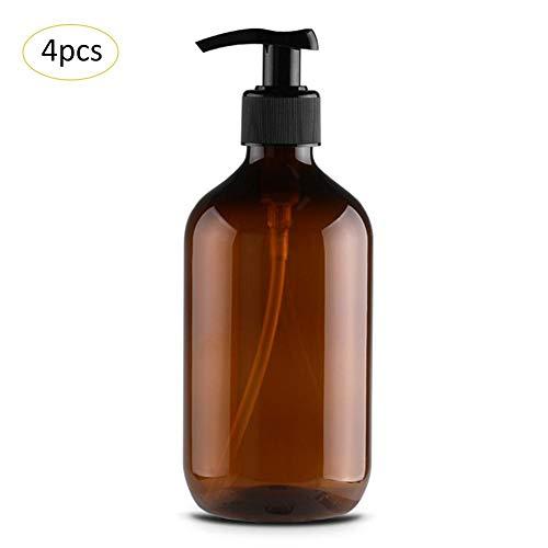 4pcs / Groupe 500 ML Bouteille de Lotion Pet - Bouteille de shampoing Gel de Douche Bouteille de Lotion pour Les Mains Bouteille de Savon Bouteille de Pompe Vide