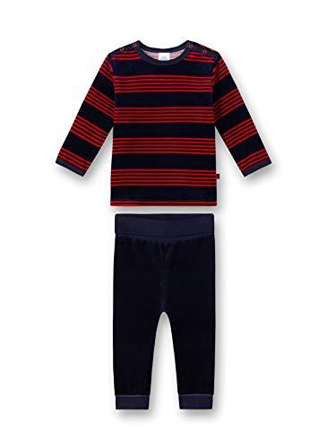 Sanetta Baby-Jungen Pyjama Zweiteiliger Schlafanzug, Rot (Karmesin 3101), 86 (Herstellergröße: 086)