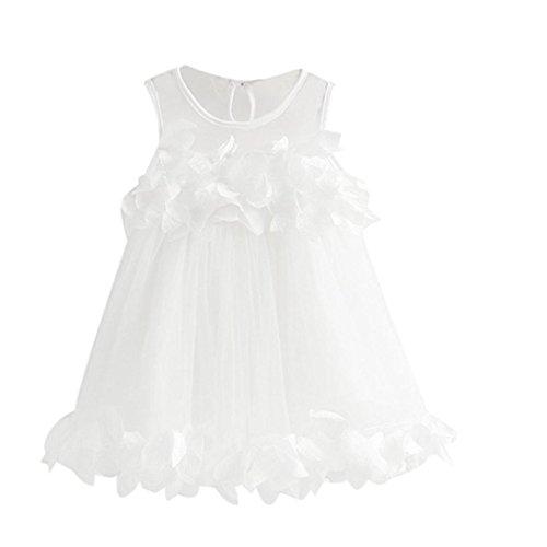 JERFER Kleid Baby Mädchen Prinzessin Festzug Ärmellos Drucken - Amazonas Prinzessin Kostüm