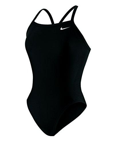 Nike - Bañador de competición de una pieza, para mujer - TESS0049-001-20, 20, Negro
