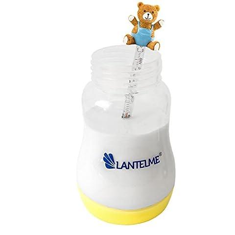 Lantelme 6373 Babynahrung Zubereitungsset mit Thermometer klein Teddy blau und Babyflasche