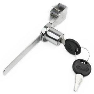 Neu Schloss für Glas Schiebetür Chrom Metall Vitrinenschloss mit 2 Schlüssel