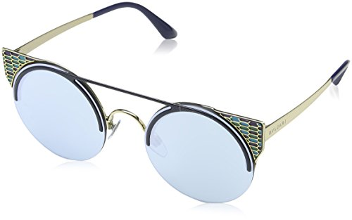Bulgari Damen 0Bv6088 20206J 54 Sonnenbrille, Blau (Blute/Blue White),