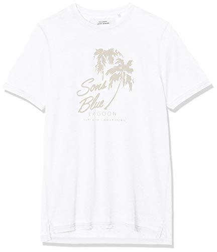 ONLY & SONS Herren onsNEXT Burnout Print Slim Tee NF 3160 T-Shirt, Weiß Bright White, X-Large (Herstellergröße: XL) -
