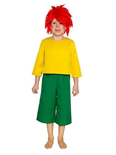 Kobold Kind Kostüm - Maskworld Pumuckl Kostüm für Kinder - original lizenziert - zweiteilig - Karneval (122-128)