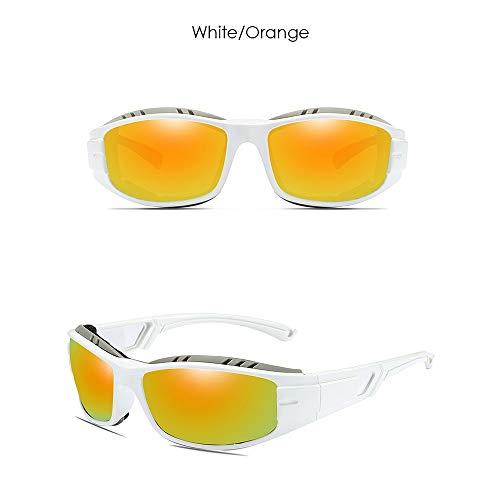 FURUDONGHAI Formative Sports Riding Outdoor UV400-Sonnenbrille mit Blendschutz Trend Grau/Blau Grün/Gelb Grün/Blau/Dunkelblau/Orange Herren-Sonnenbrille besonders geeignet für sommerreisen o