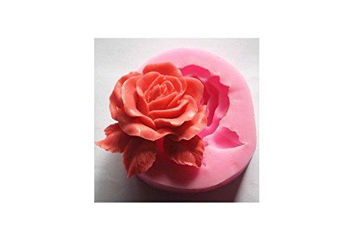Hemore Blume Rosa groß aus Silikon Form Werkzeug Dekoration Fondant Kekse 3D Form Seife Form Schokolade