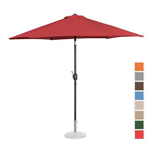 Uniprodo ombrellone da esterno grande ombrello da giardino uni_umbrella_r270bo (bordeaux, esagonale, inclinabile, Ø 270 cm)