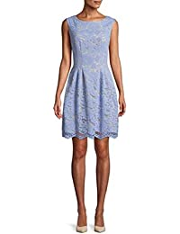 16538acec45 Vince Camuto Women s Lace Extended Cap Sleeve Fit and Flare Dress