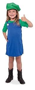 Folat 63230-Verde Super de Fontanero de Camisa para niña-tamaño 116-134
