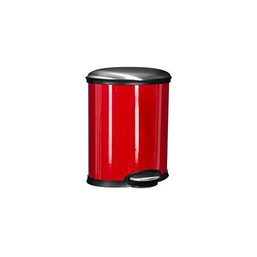 Paris Prix - Poubelle De Cuisine Ovale 20l Rouge