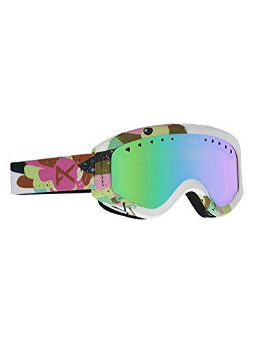 Anon tracker, maschera da sci e snowboard bambina, birdie/green amber, taglia unica
