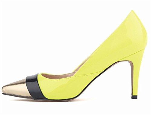 Mariage Femme Aiguille Soirée 8 Chaussure Jaune Couleurs Escarpins Cqvnx70O